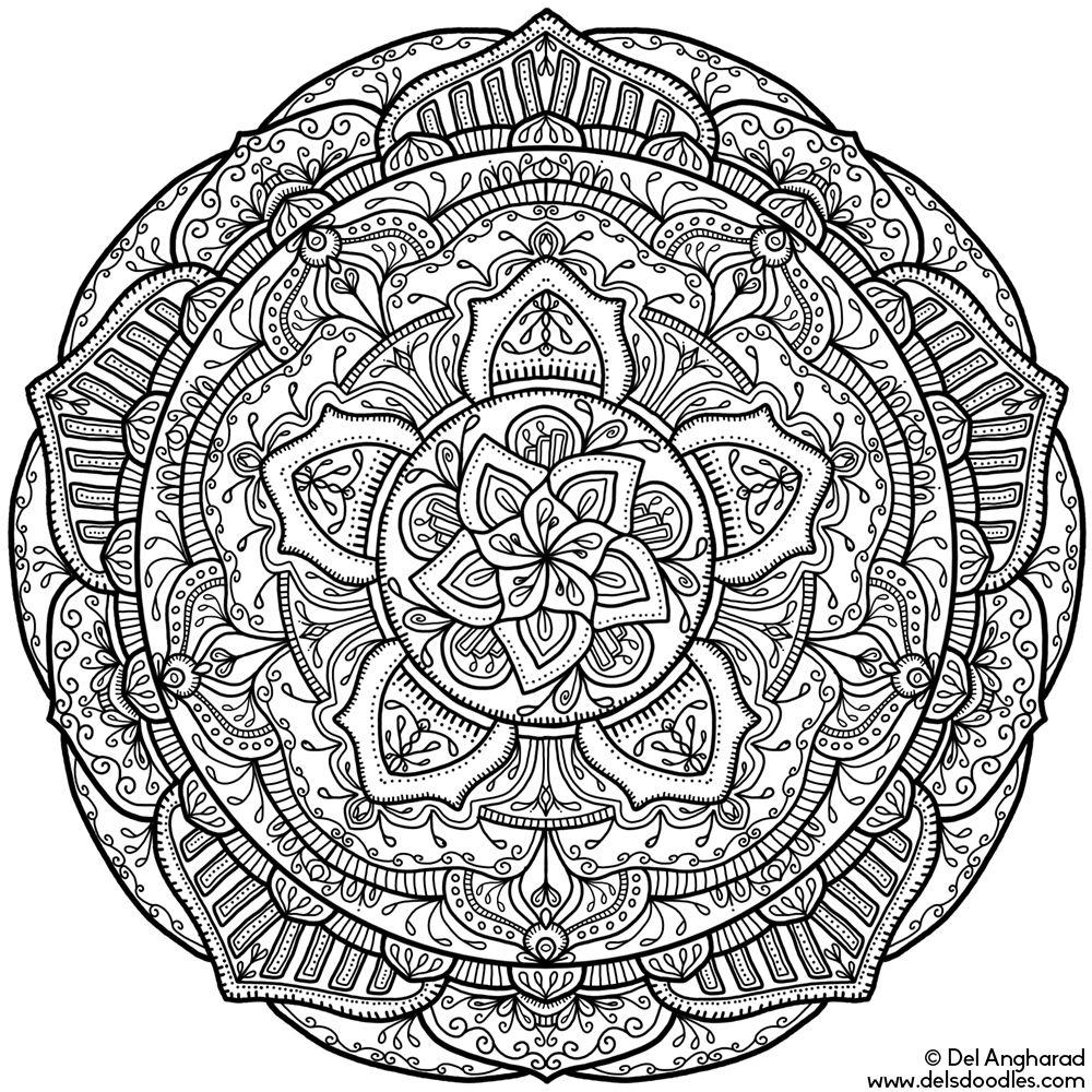 Krita Mandala 18 Coloring Books Zen colors Mandala