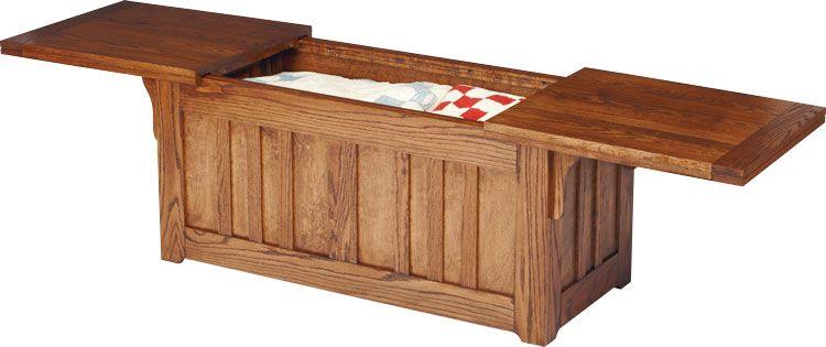 Furniture plans prairie series slide top blanket chest for Blanket chest designs