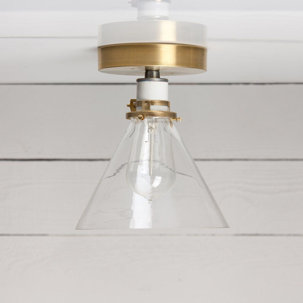Glass Cone Shade Ceiling Light Ceiling Lights Ceiling Fixtures Cool Lighting