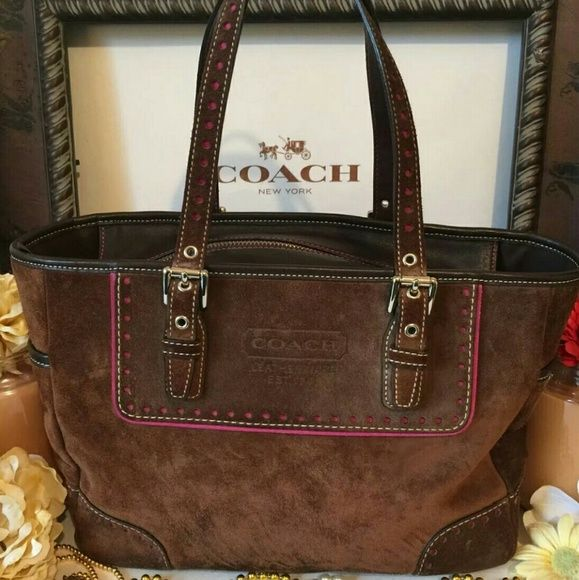 Coach Bags New Authentic Ltd Edition Suede Gallery Bag Piping Cleaning Supplies