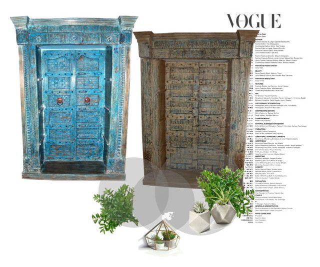 """Antique Doors"" by era-chandok ❤ liked on Polyvore featuring interior, interiors, interior design, home, home decor, interior decorating, rustic, antique, door and indianfurniture"