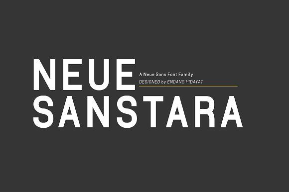 Neuesanstara Font Family 50% OFF by Bang Kumis Typefoundry on @creativemarket