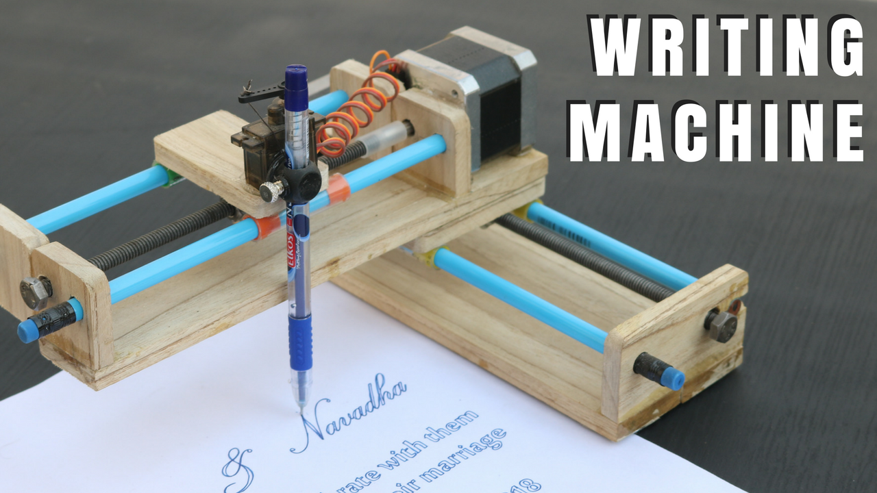 HOMEWORK WRITING MACHINE | By_GC | Writing machine, Drawing