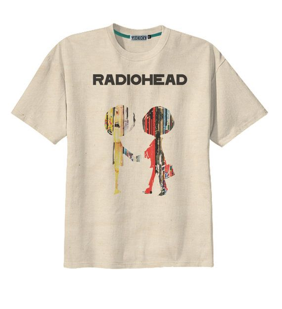Retro Radiohead Album Cover Rock UK Band T-Shirt Tee Organic Cotton Vintage Look Size S M L