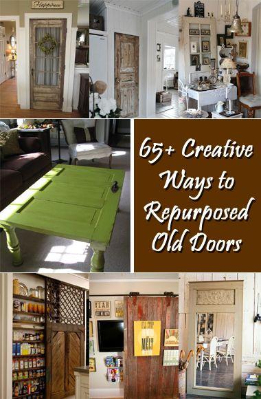 65 Creative Ways To Repurpose Old Doors Old Doors Salvaged Doors Old Door Projects