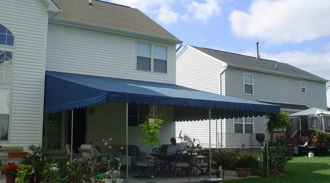 Residential Patio Awning In Baltimore Creates A New Living Space
