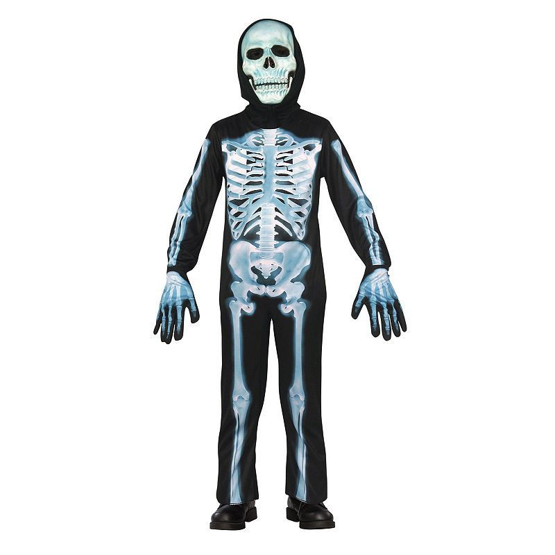 X-Ray Skeleton Costume - Kids, Boy\'s, Size: 5-7, Multicolor