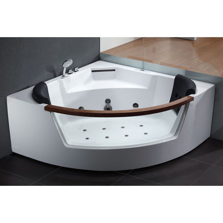 Eago AM197 White Acrylic 5-foot Whirlpool Bath Tub (Acrylic / Glass ...