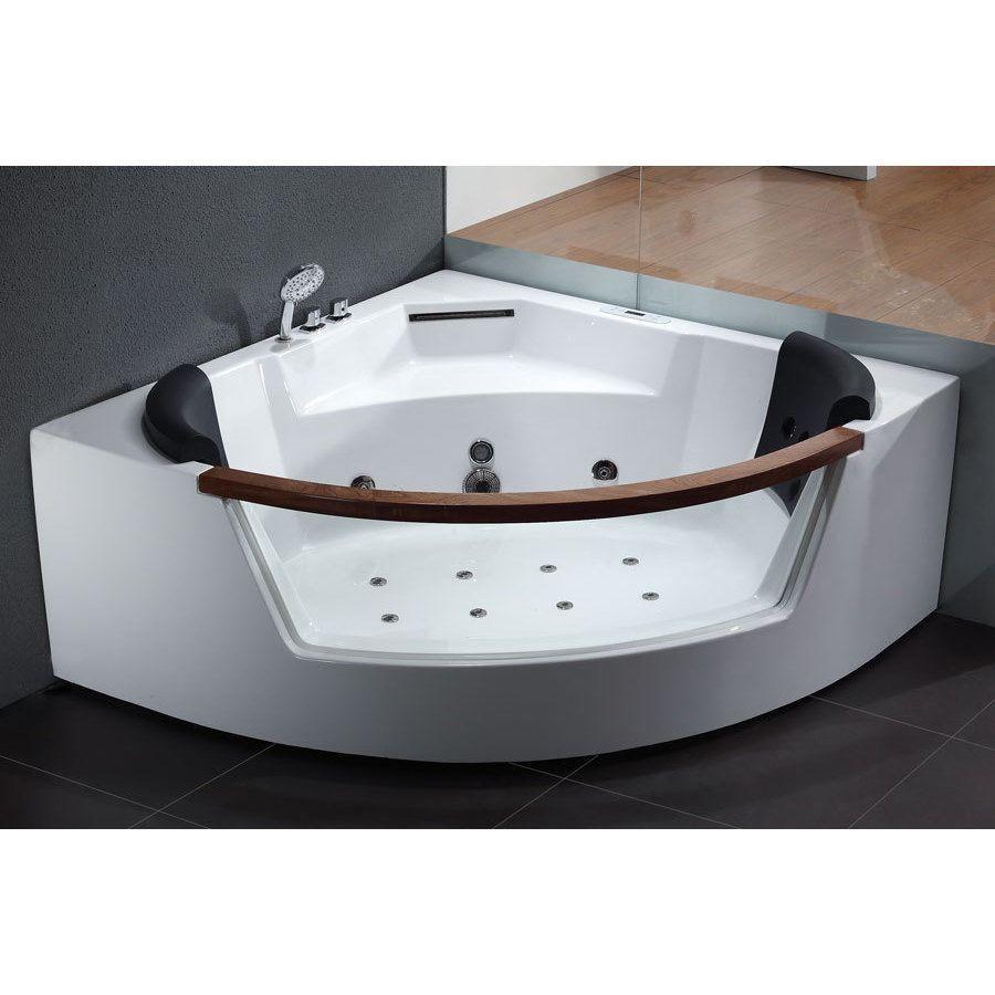 Eago AM197 White Acrylic 5-foot Whirlpool Bath Tub (Acrylic / Glass ...