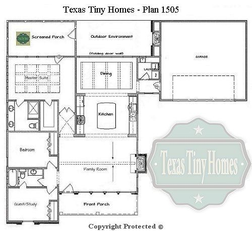 Small House Plans Texas Tiny Homes Plan 1505