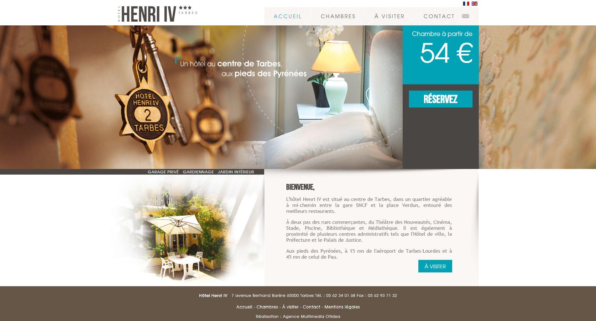 Site Internet De L Hotel Henri Iv A Tarbes Hautes Pyrenees 65 Application Facebook