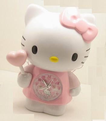 Hello Kitty Angel Figurine Light And Musical Alarm Clock Cat Son Image Sanrio Hello Kitty Angel Cat Kitty