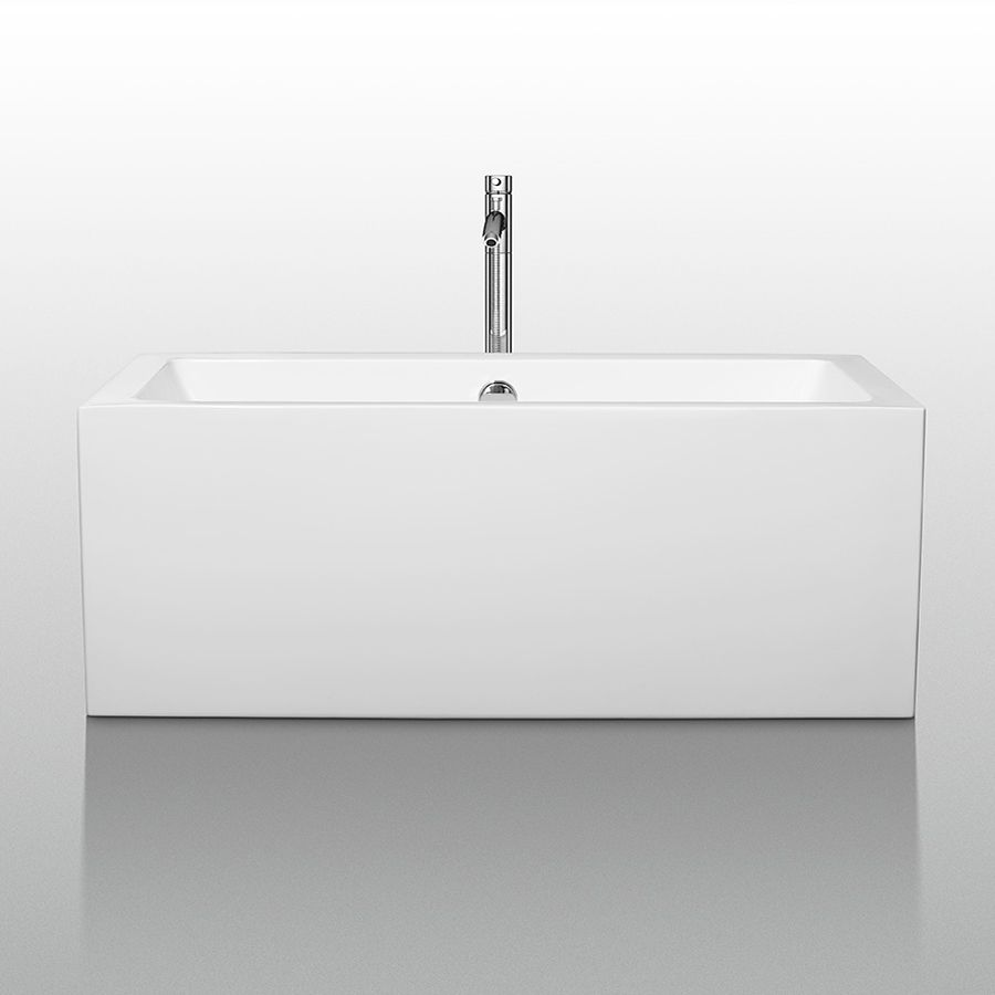 Wyndham Collection WCOBT101160 Melody White Acrylic ...