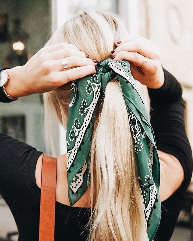 Ponytail and scarf