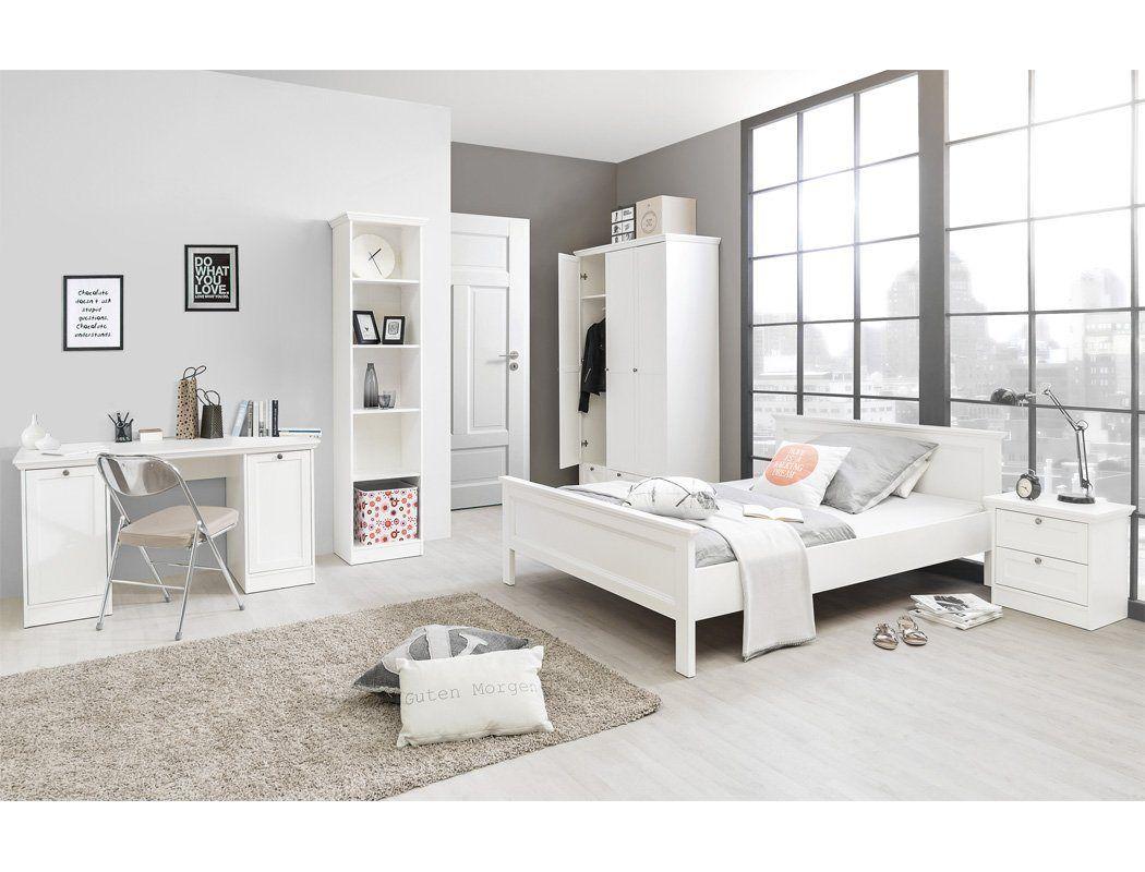 Jugendzimmer Set Landstrom 172 Spar Set 5 Tlg Landhausstil Weiss Bett 140x200 Cm In 2020 Jugendzimmer Teenager Madchen Schlafzimmer Zimmer