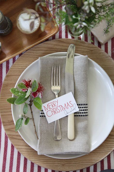 Setting the Christmas table with Annabel Langbein : table setting for christmas - pezcame.com