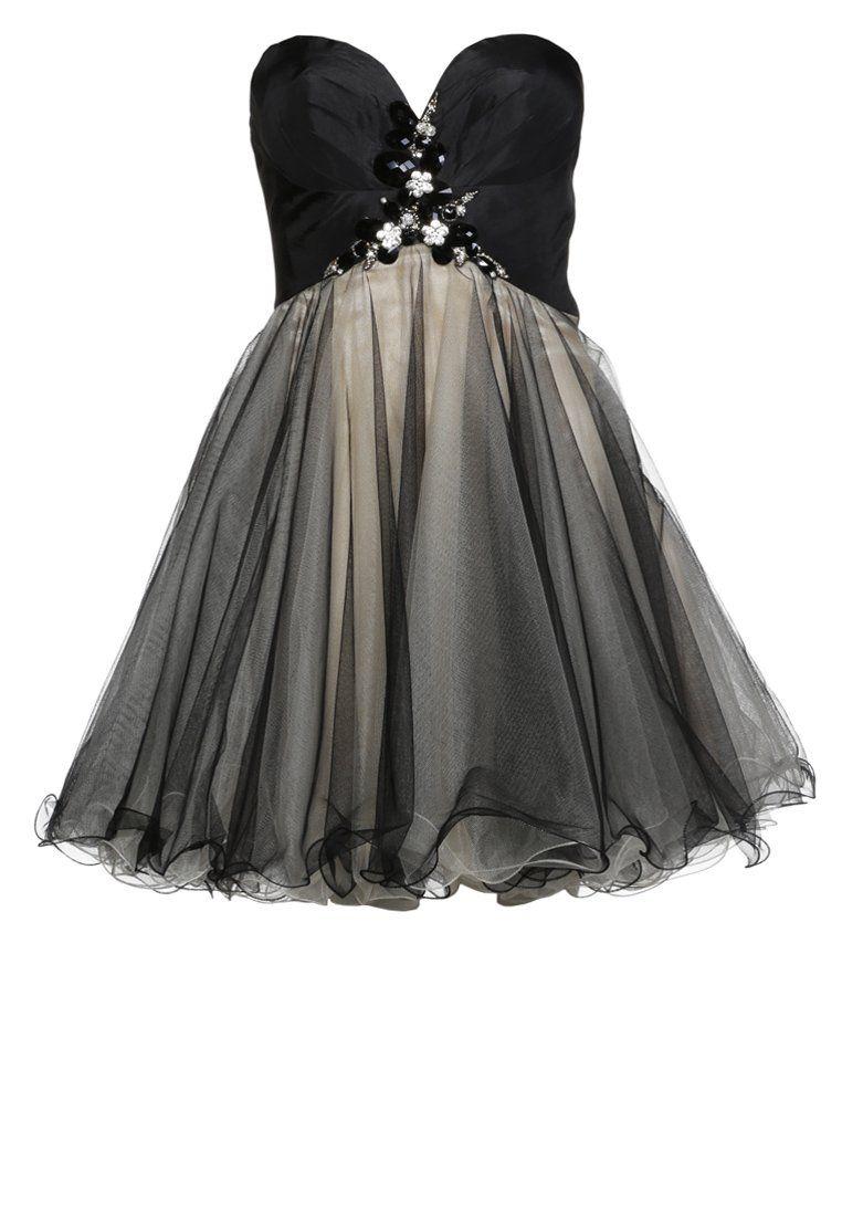Luxuar Fashion Sukienka koktajlowa nude/schwarz   Alice Style ...