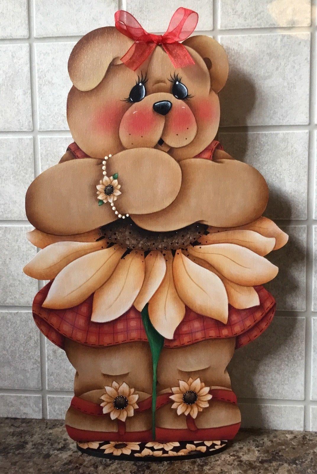 Hp Teddy Bear With Flower Shelf Sitter