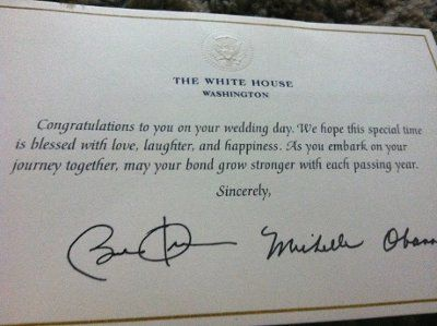 Did you know the obamas will likely send you a congratulations card did you know the obamas will likely send you a congratulations card when you invite them m4hsunfo Choice Image