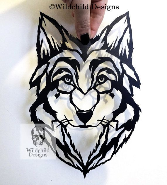 beginner s wolf papercutting template svg jpeg vinyl template