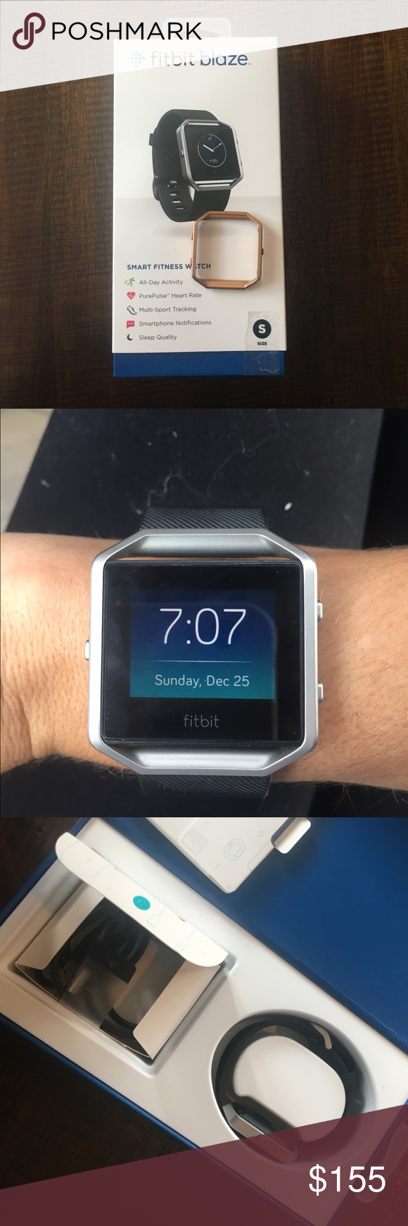 Fitbit Blaze Pinterest Smart Fitness Watch Small Also Including A Gold Face Plate For Accessories Watches
