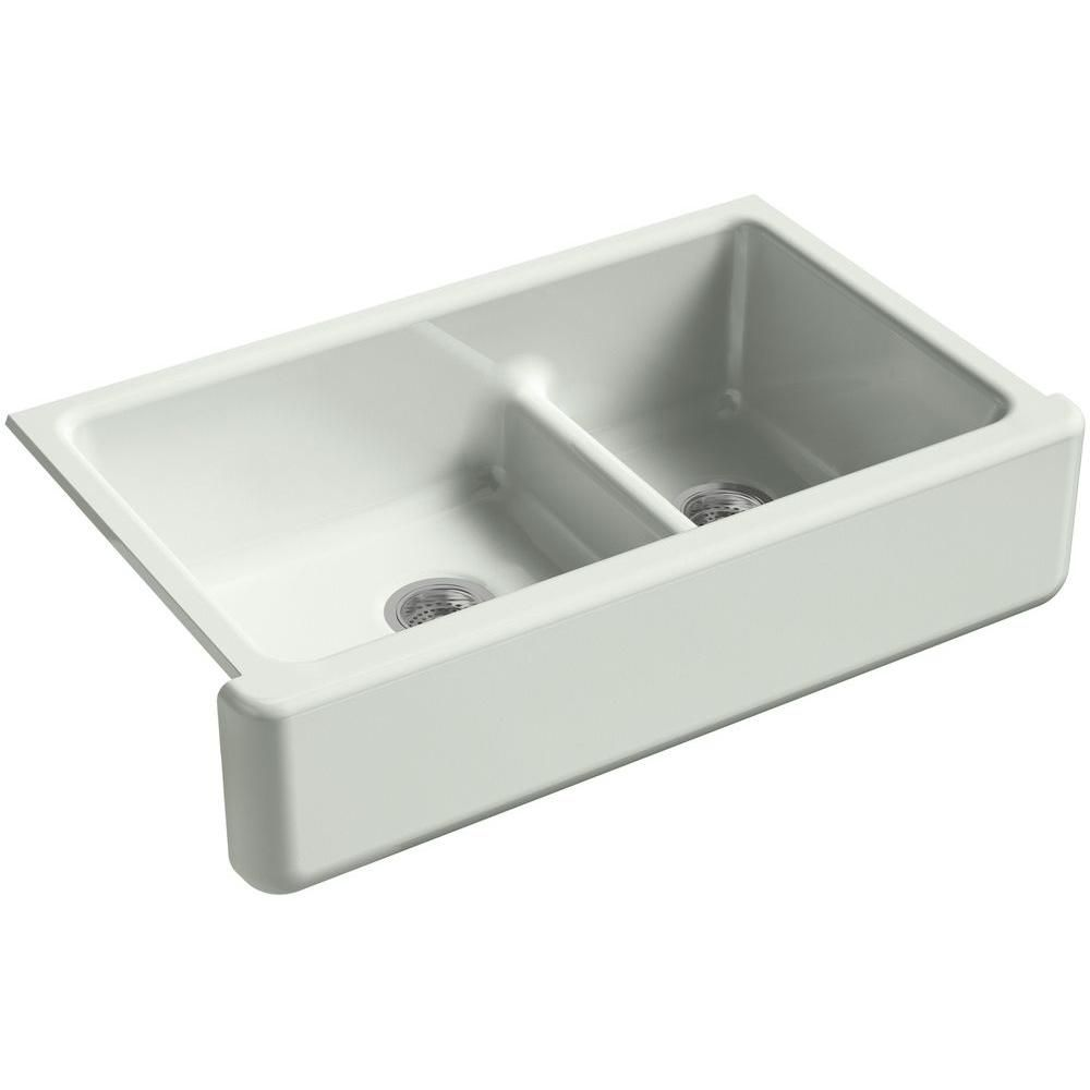Kohler Whitehaven Smart Divide Undermount Farmhouse Apron Front