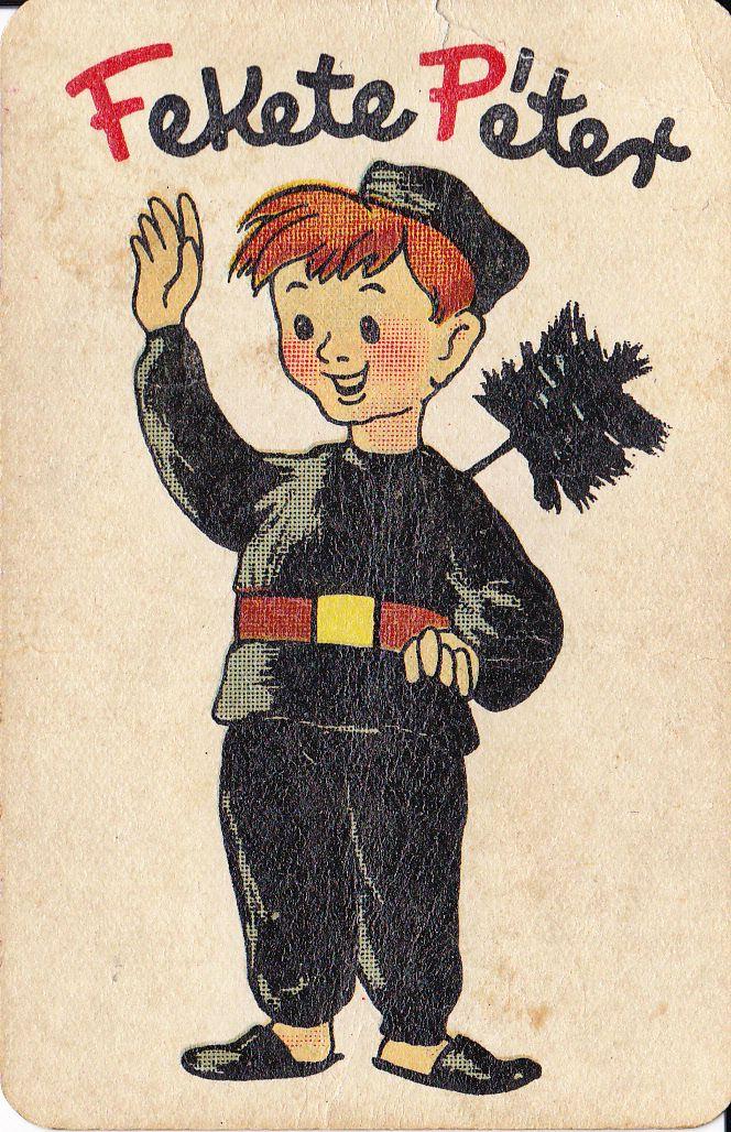 Fekete Péter, retro Hungarian kids card game (Fekete Péter