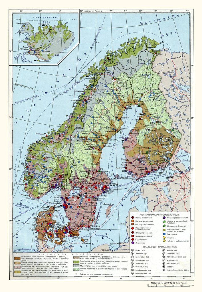 Soviet Map Of Nordic Industry And Thelandofmaps