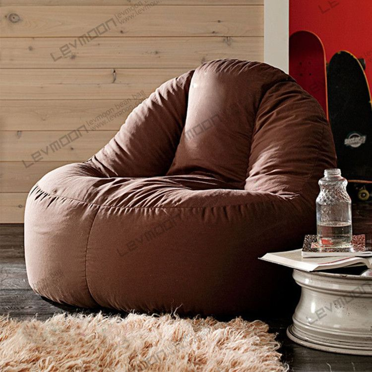 FREE SHIPPING coffee bean bag chairs for adults 100CM diameter