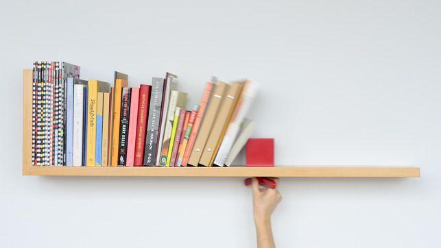 A Bookshelf That Holds Your Books Upright Minimalist Bookshelves Unique Shelves Wall Mounted Shelves