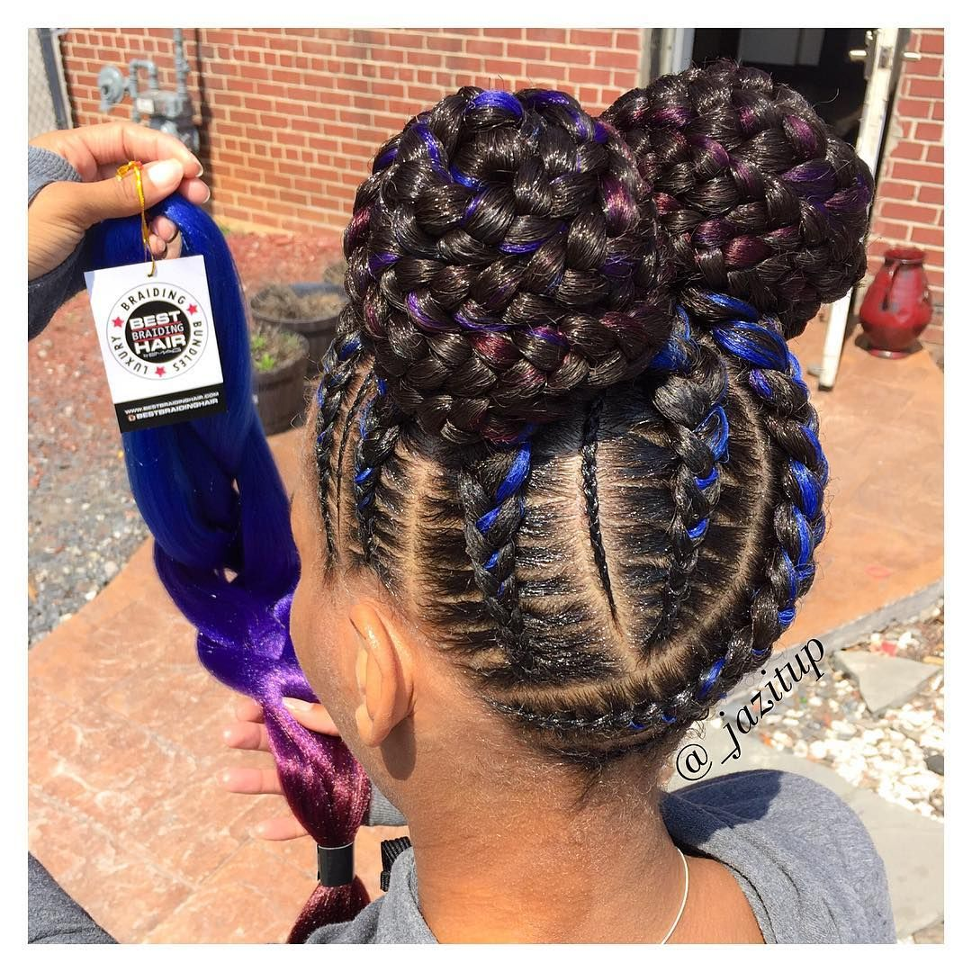 6 257 Likes 56 Comments Jazmin Davidson Jazitup On Instagram When Your Client Bring Kids Braided Hairstyles Girls Hairstyles Braids Braided Hairstyles
