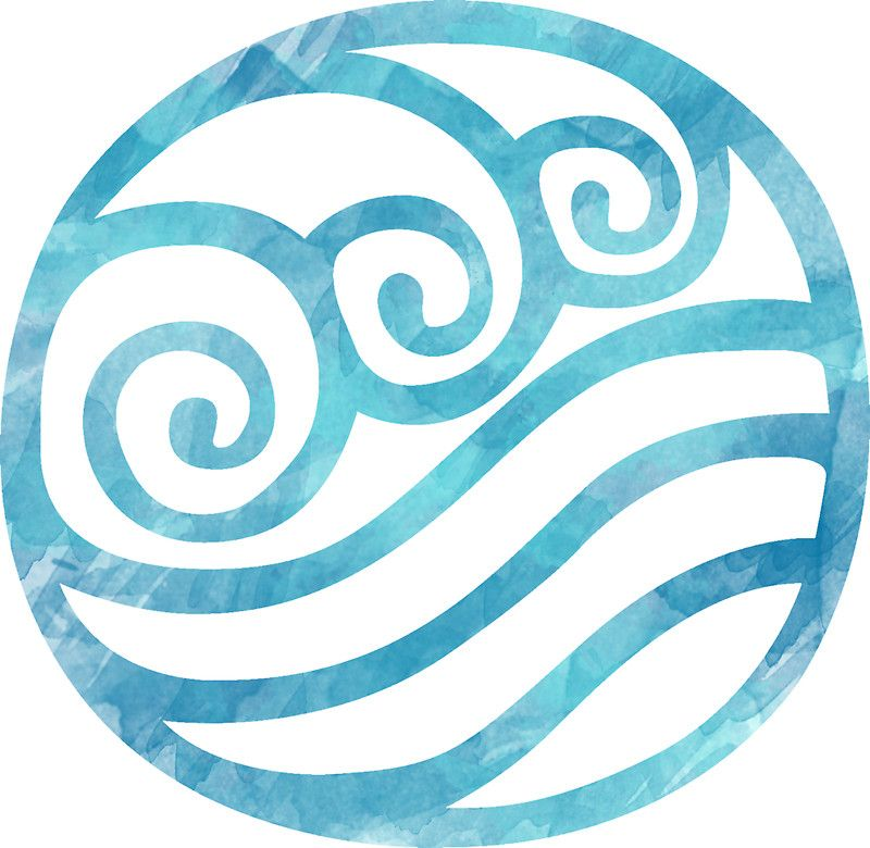 Watercolor Water Tribe Symbol Sticker By Timelesslord Watercolor Water Water Tribe Water Symbol