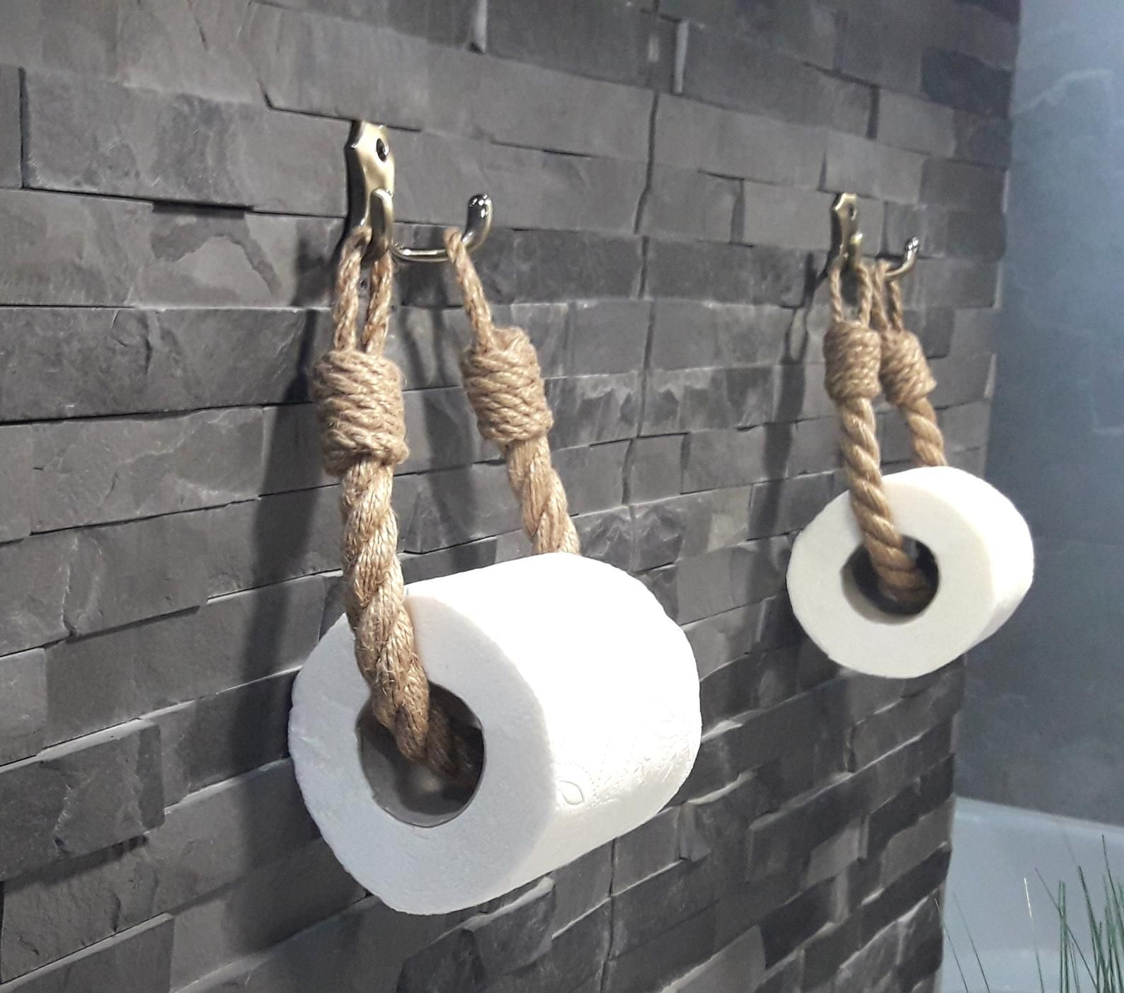 Photo of Toilet Paper Holder..Towel Holder..Jute Rope Nautical Decor..Rope Paper Holder..Bathroom Eco-friendl