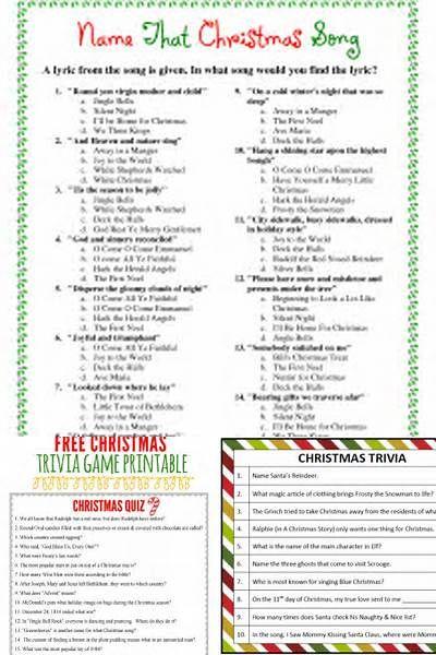 christmas trivia christmas trivia questions and answers printable