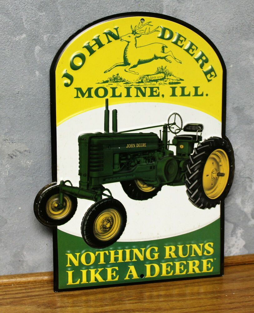 Sponsored(eBay) John Deere Farm Tractor Metal Vintage Style Signs