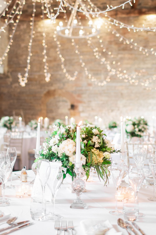 Almonry Barn Wedding Magical Effortless Pale Blue Grey Barn Wedding Barn Wedding Wedding Lights Blue White Weddings