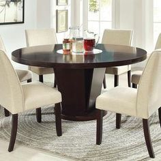 247Shopathome Cimma Contemporary Style Espresso Finish 5Piece Stunning 7 Piece Round Dining Room Set Design Ideas