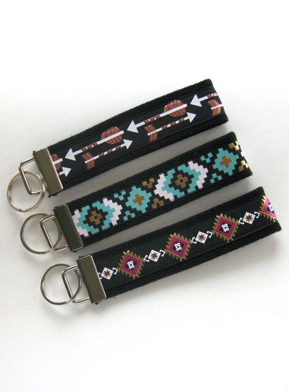 Aztec KEY FOB Wristlet- Wrist Keychain for Her- Tribal Key Lanyard for Women-  Wristlet Key Chain- Gi d486272326
