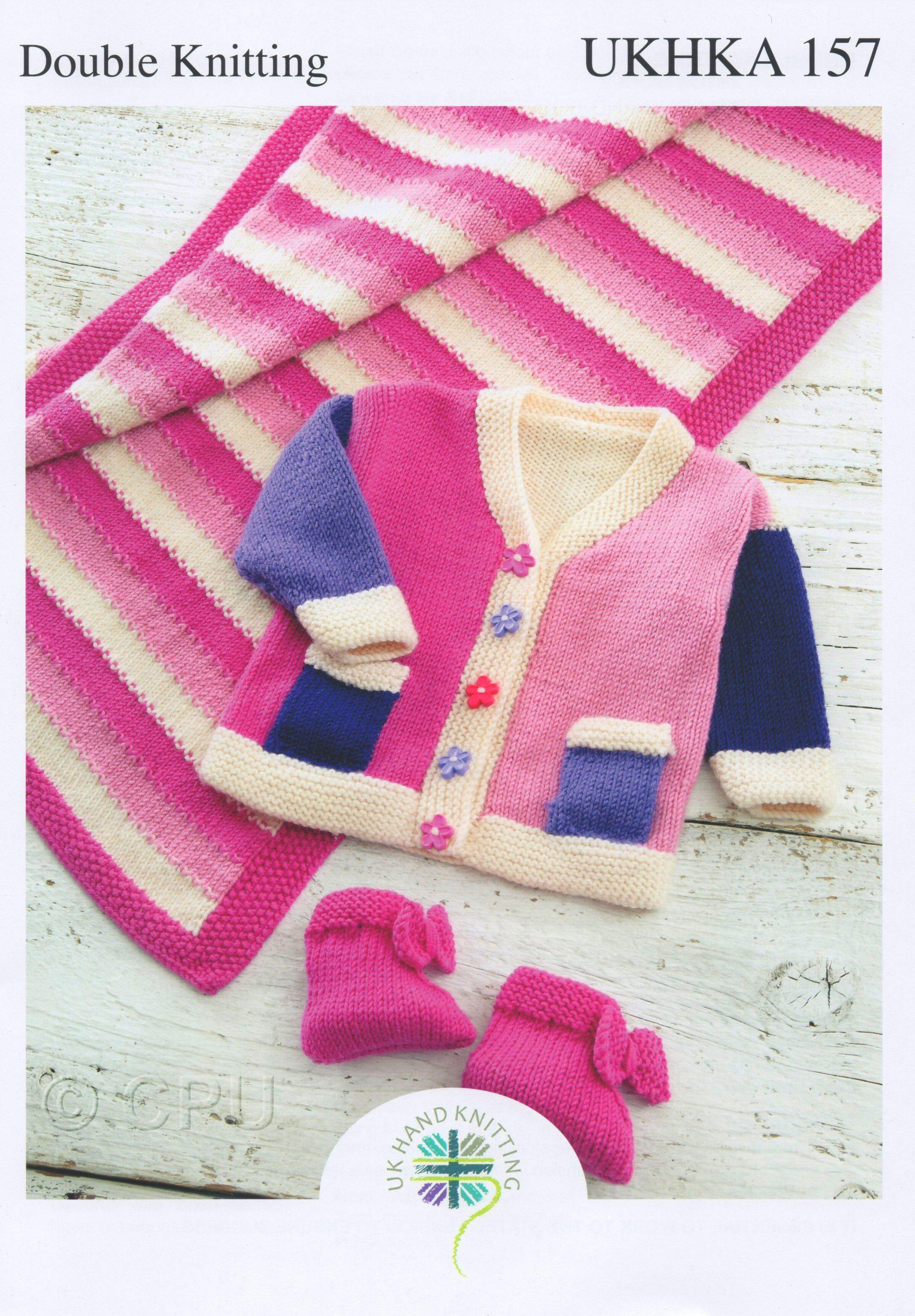 1c2eccbc1 UK Hand Knitting Association Pattern Leaflet UKHKA157 £2.30 Double Knit  Knitted Jacket