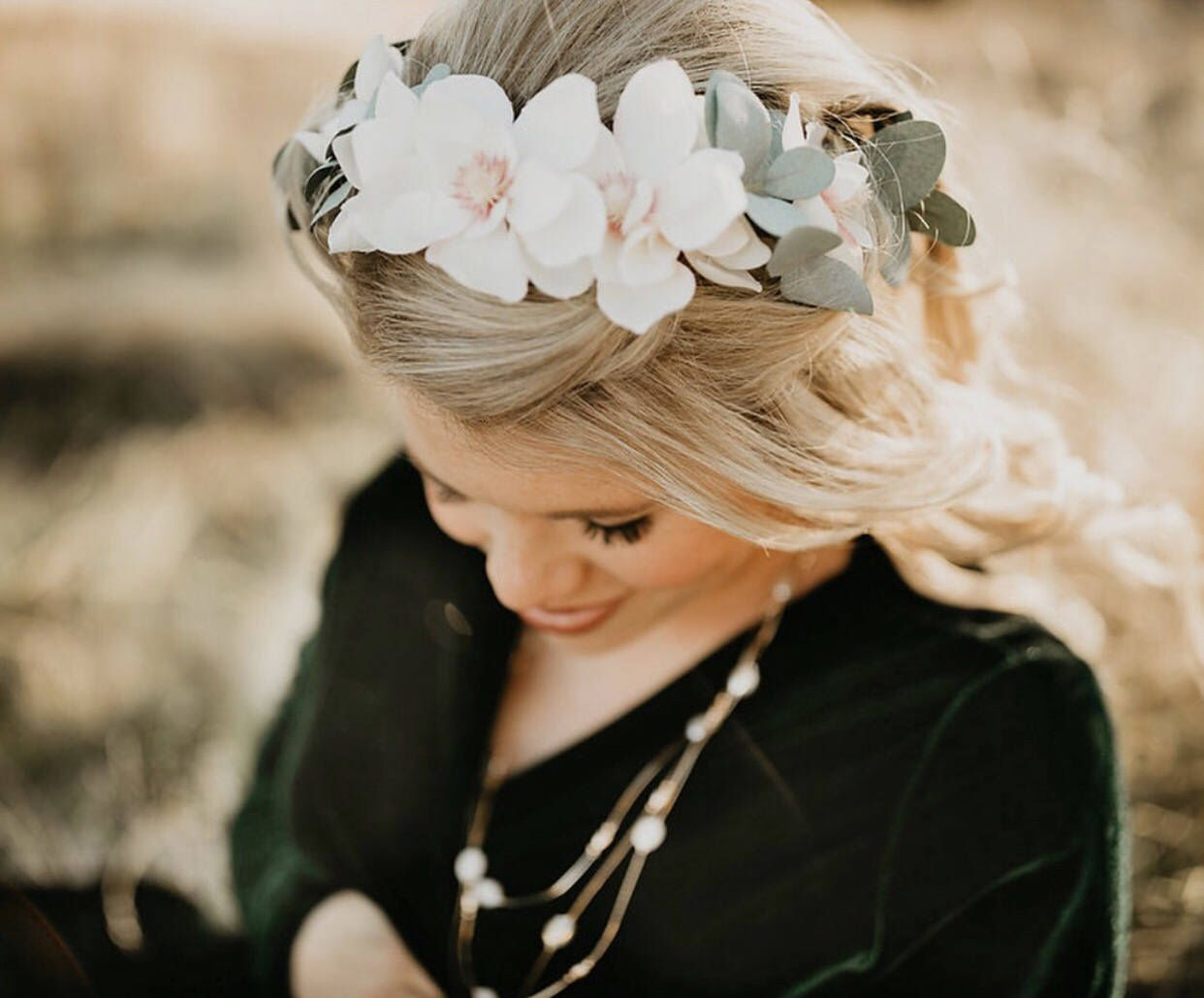Excited To Share The Latest Addition To My Etsy Shop Flower Crown Magnolia Wedding Flower Crown B Boho Floral Crown Flower Crown Wedding Boho Flower Crown