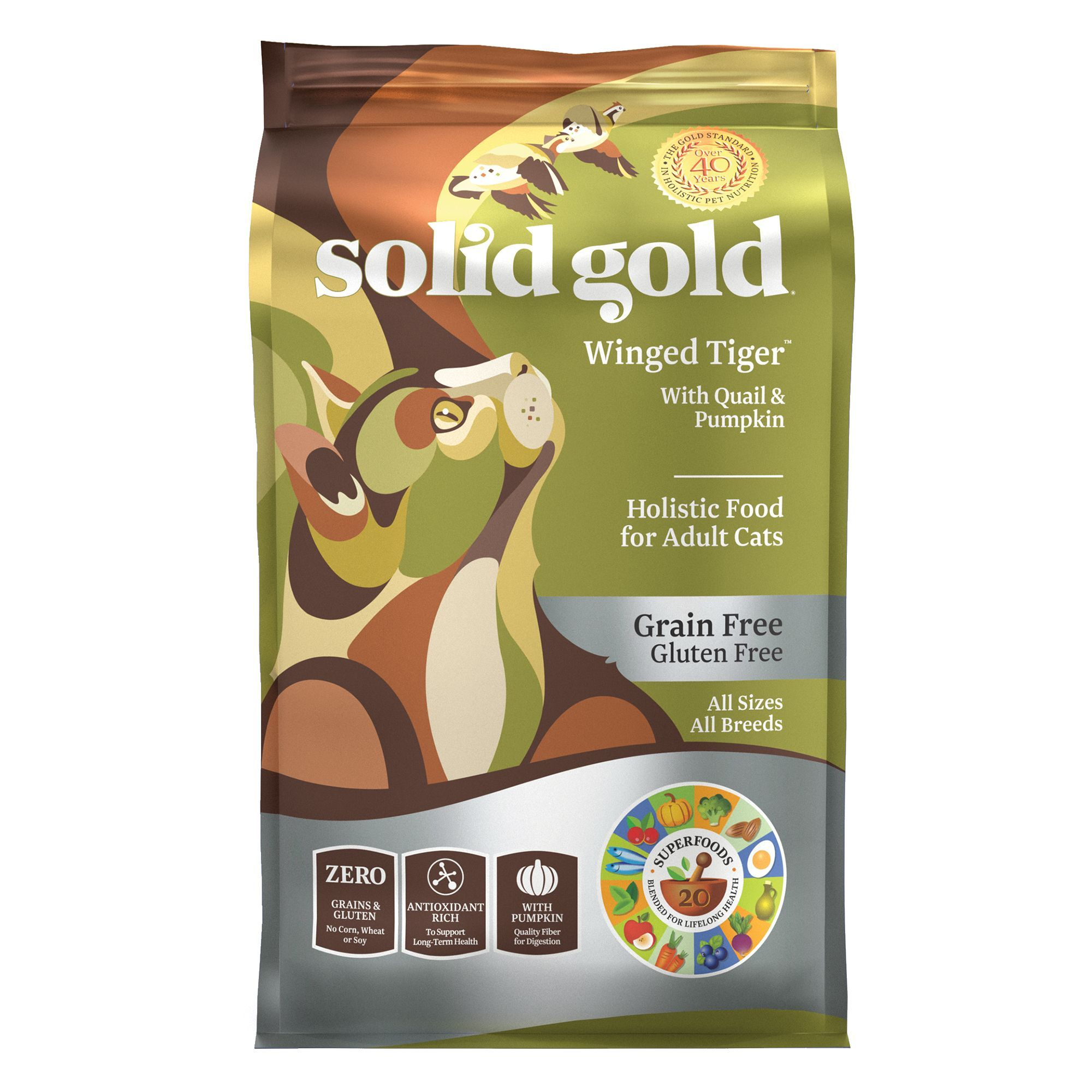 Solid Gold Winged Tiger Adult Cat Food Grain Free Gluten Free