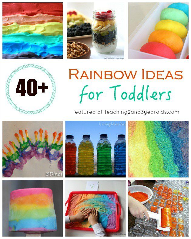 40 Toddler Rainbow Activities Teaching toddlers