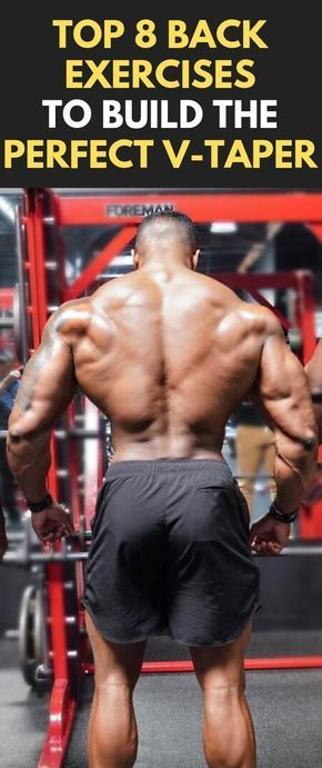 Top 8 Back Exercises To Build The Perfect V-Taper  #fitness #bodybuilding #gym #Backworkout #V-Taper