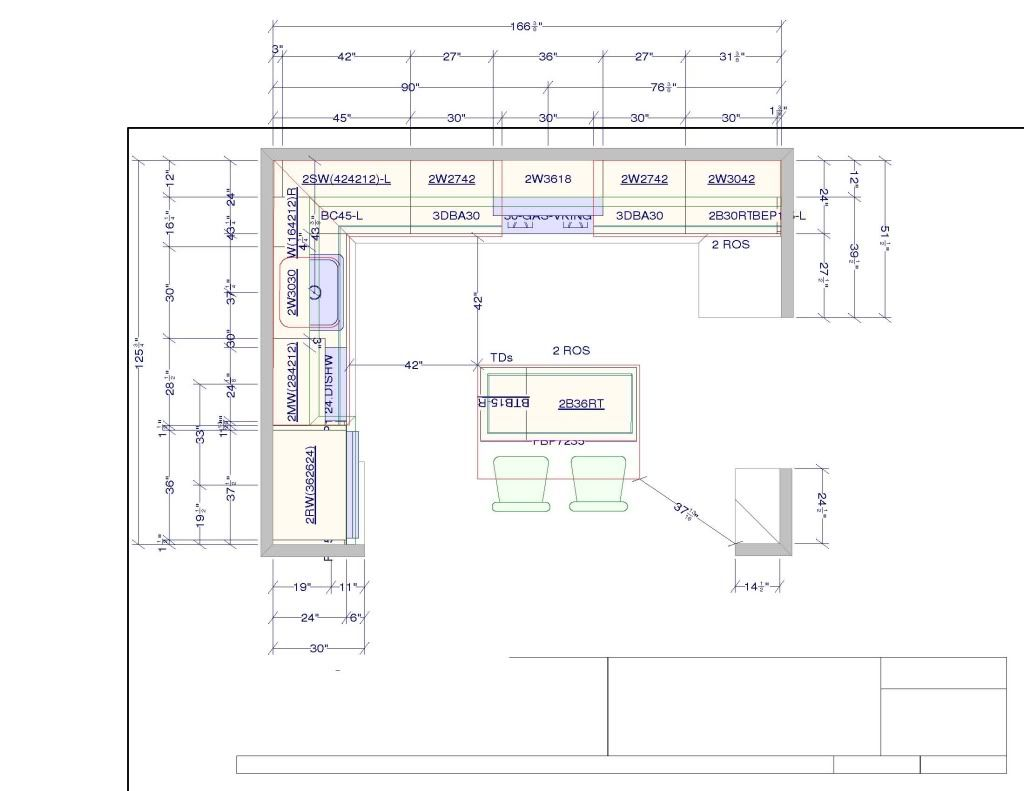 10 x 15 kitchen design if i use a 30 hood then i could for Kitchen cabinets layout