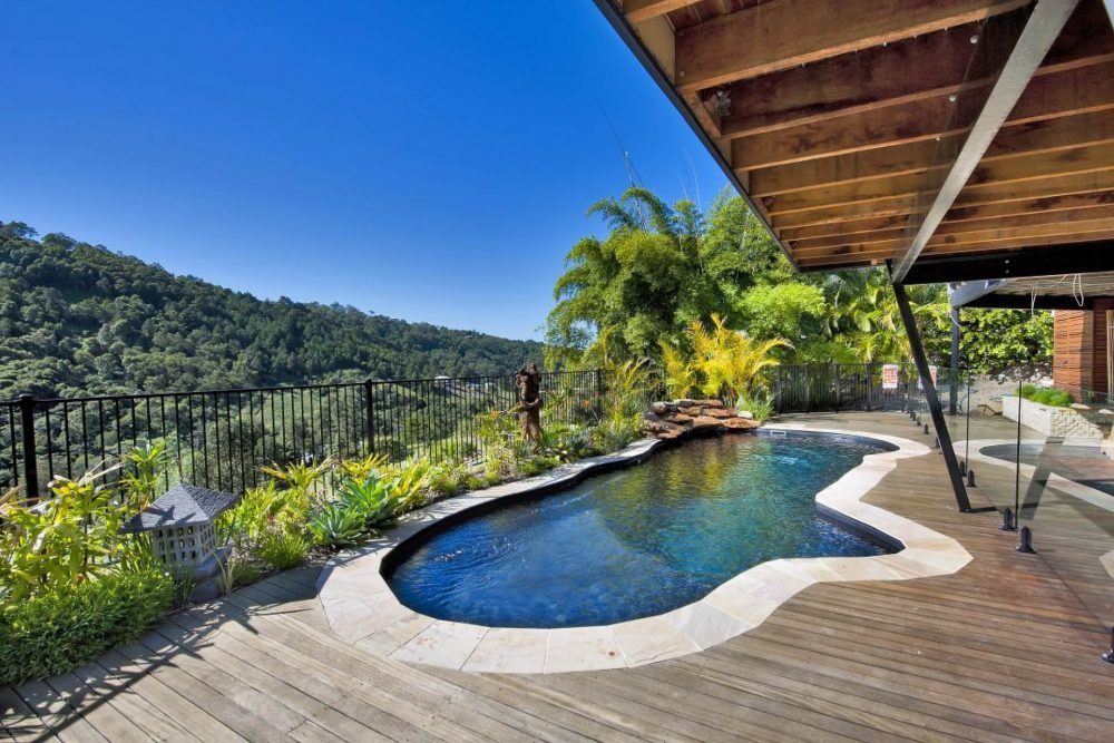 Rockpool 9 Black Onyx Installed By Sunshine Coast Moreton Bay Small Backyard Pools Pool Swimming Pools