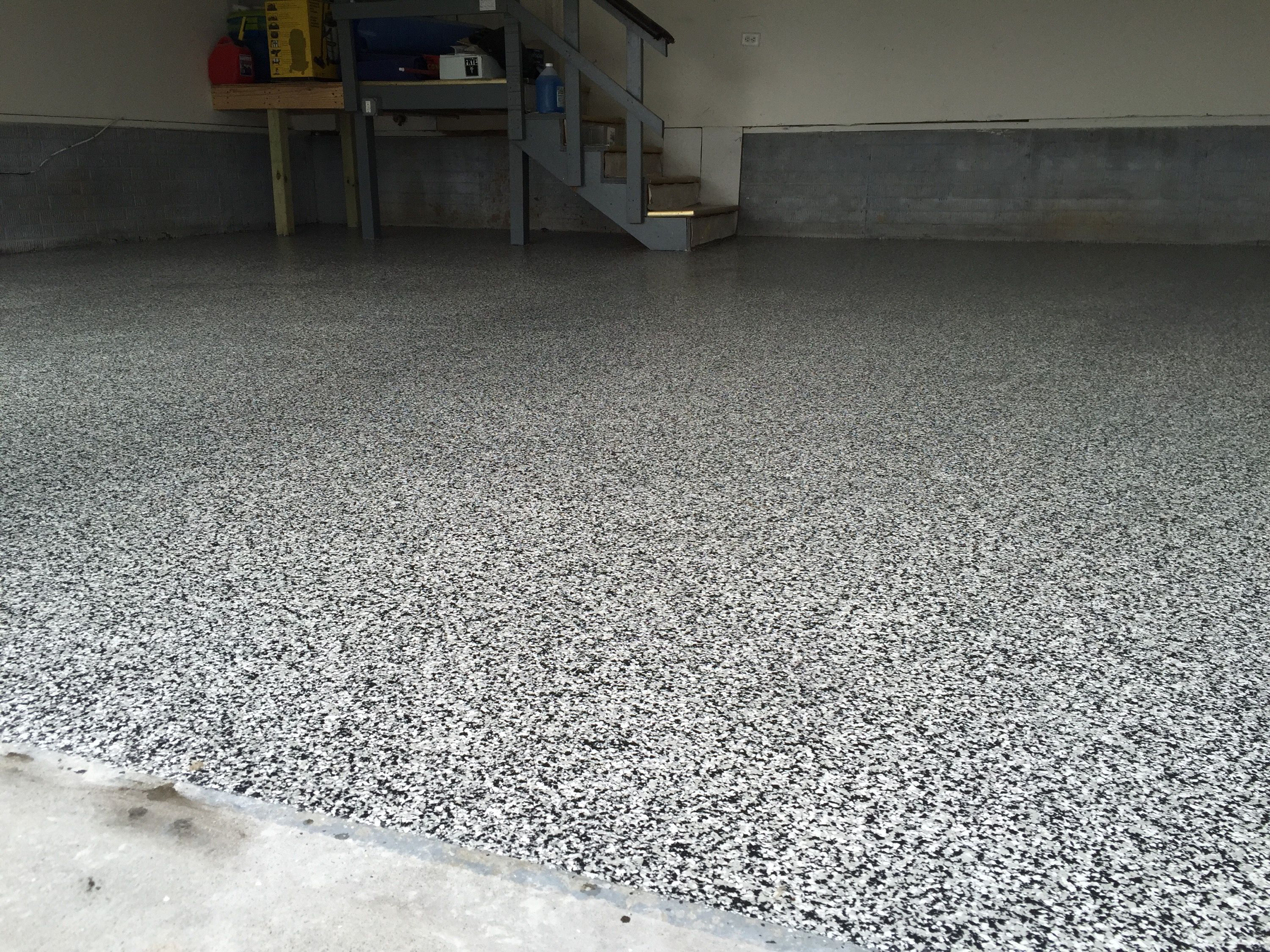 Tuxedo Epoxy Garage Floor Painted Floors Garage Floor Paint Epoxy Floor