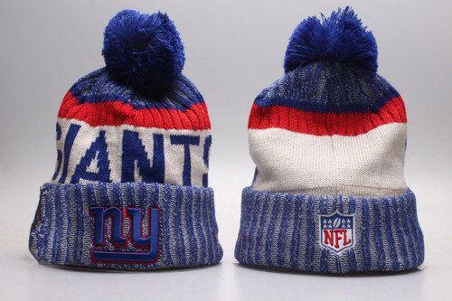 New York Giants Winter Outdoor Sports Warm Knit Beanie Hat Pom Pom ... 5689a0ea4a9