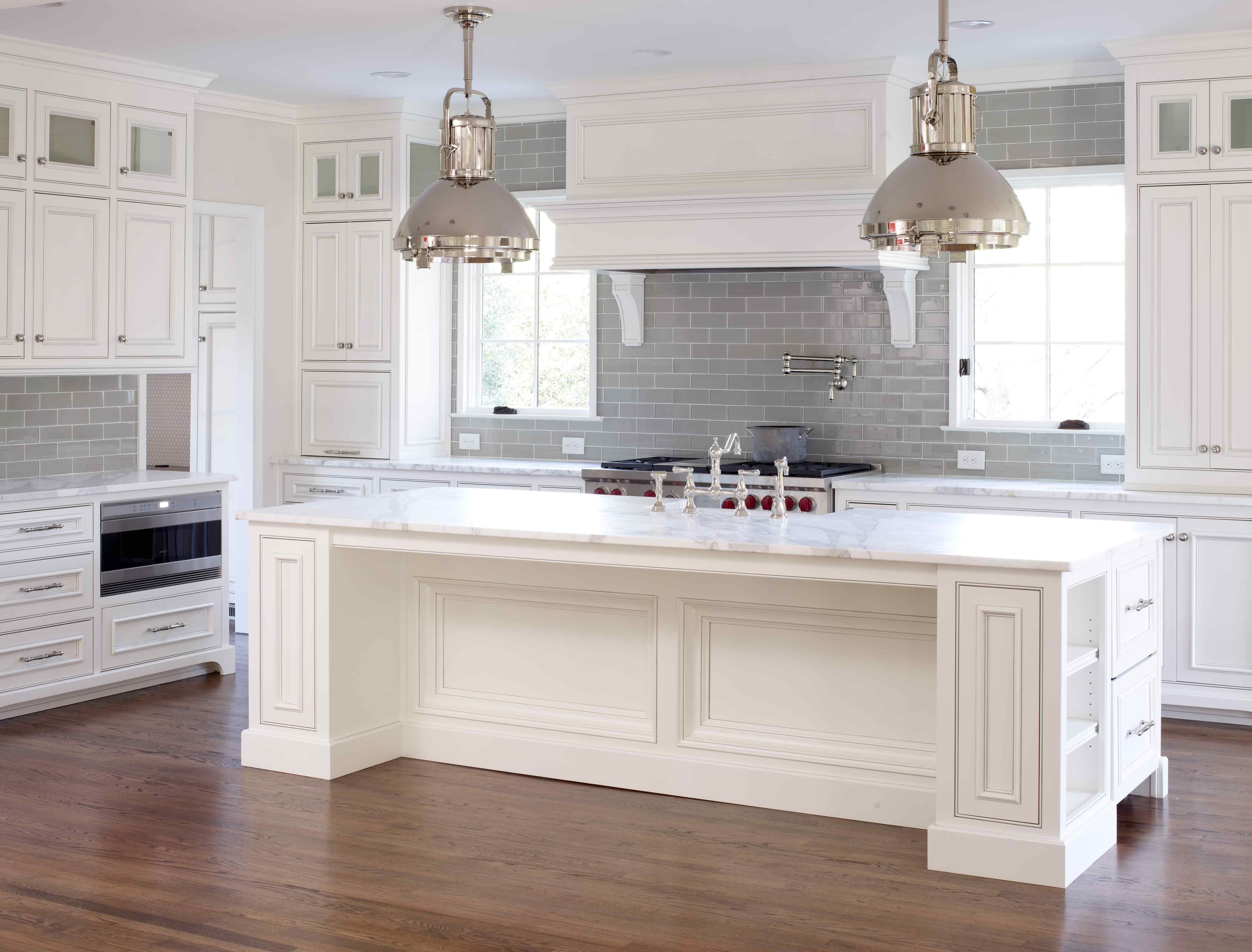 Grey Kitchen Cabinets For Sale Glass Backsplashes Kitchens Gray Tile With White All The Way Up To