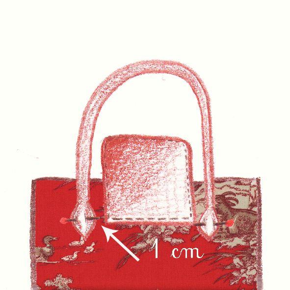 Tuto Le sac façon pliage en toile de Jouy rouge | Couture