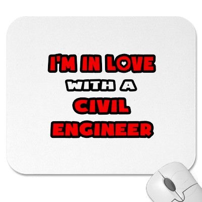 Iu0027m In Love With A Civil Engineer Mousepads Mouse Pads from - civil engineer